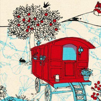 Kristen Doran Gypsy Caravan Red Blue