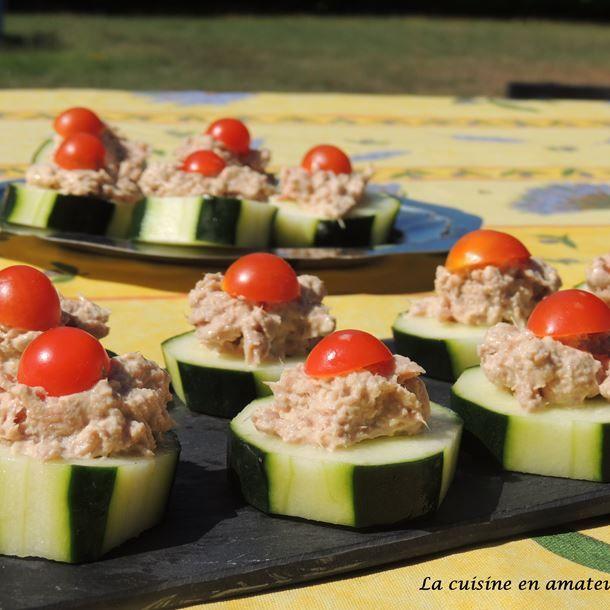 Canape De Concombre Au Thon Cuisine Francaise Concombre