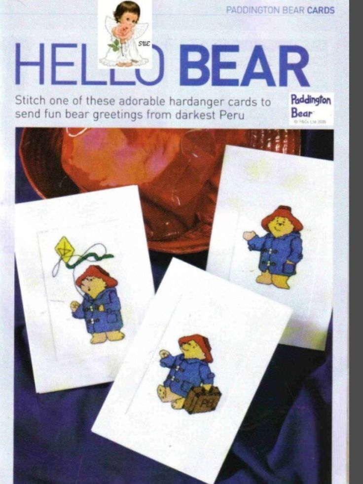 Paddington Hello Bear Cross Stitch Card Shop Issue 41 March/April 2005 Saved