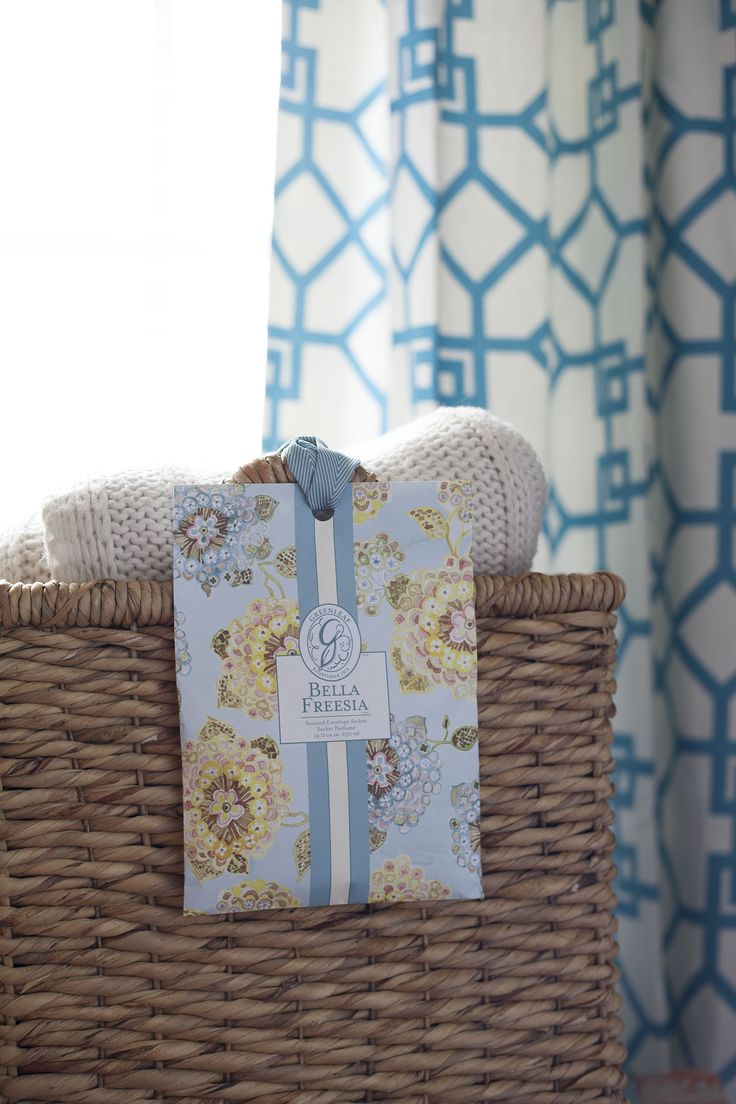 Use #38 - Stow a sachet in a basket with blankets for a softly scented living space
