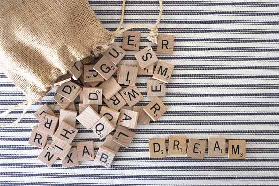 100 Scrabble Tiles . Game Pieces . Typography . Letters . Word