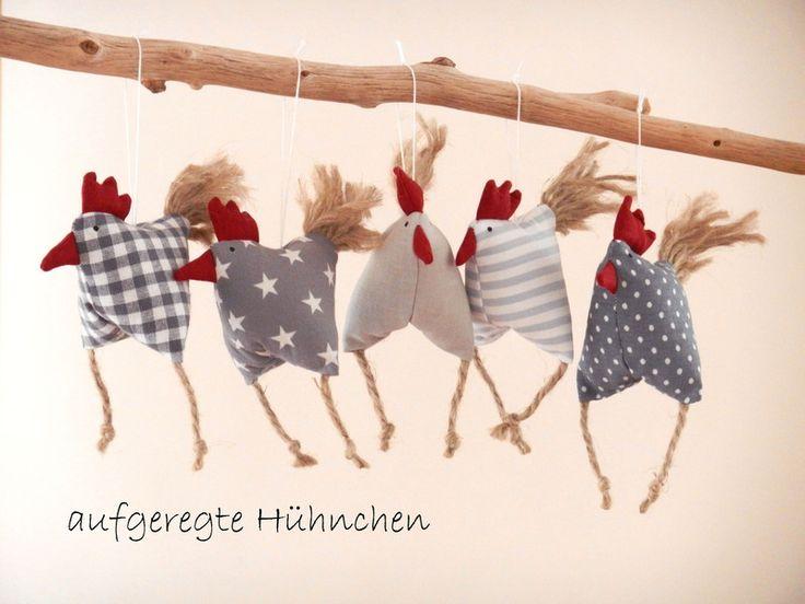 Frühjahrs-Oster-Deko+5+aufgeregte+Hühnchen+Huhn+von+uggla+deko+mit+eigensinn+auf+DaWanda.com