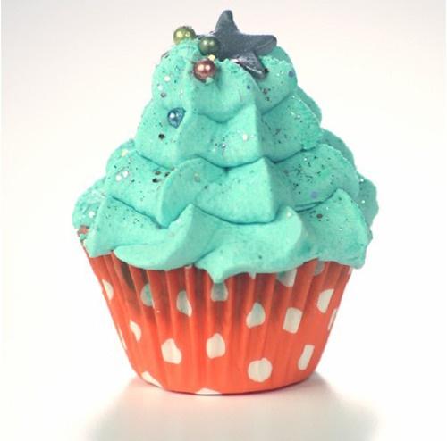 Cupcake da Bagno Albero di Natale