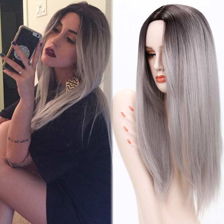 Ombre-Grey-Wigs-Female-Wig-Ombre-Grey-Synthetic-Wigs-for-Black-Women-Long-Straight-Hair-Heat/32652960938.html ** Find out more about the great product at the image link.