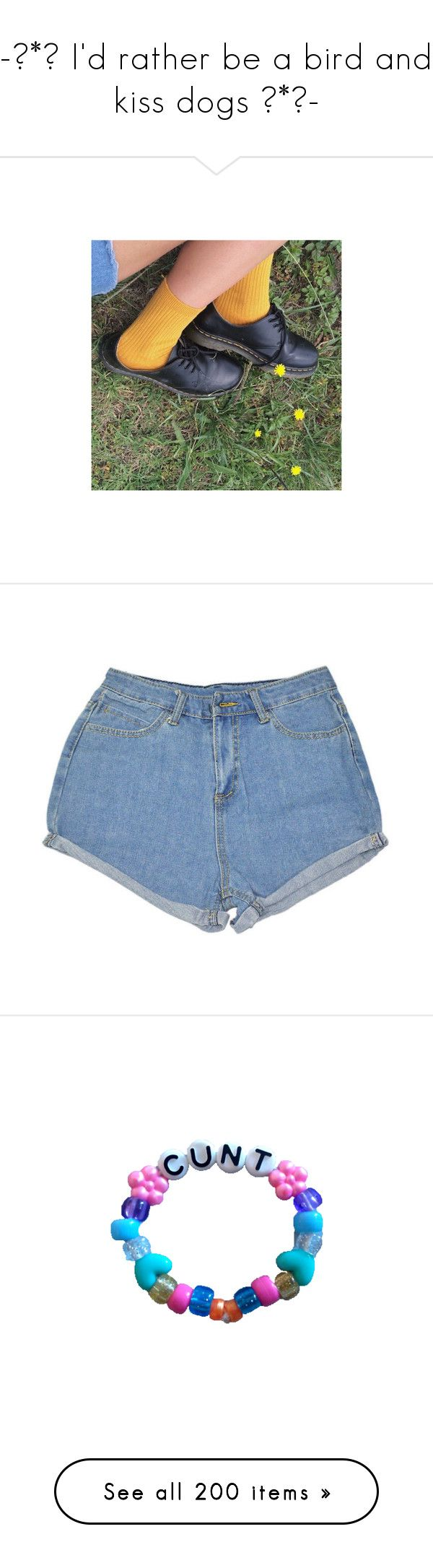 """""""-💕*🌺 I'd rather be a bird and kiss dogs 🌺*💕-"""" by queenofrocknroll ❤ liked on Polyvore featuring pictures, shorts, bottoms, pants, short, light blue shorts, blue shorts, short shorts, blue short shorts and jewelry"""