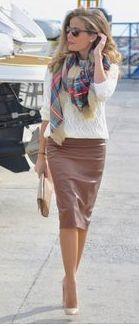 flannel plaid scarf