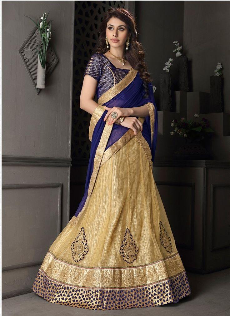 Beige Net Gotta Silk Designer Lehenga Choli #lehengacholi #designerlehengacholi #bridallehengacholi #weddinglehengacholi #onlinelehengashopping