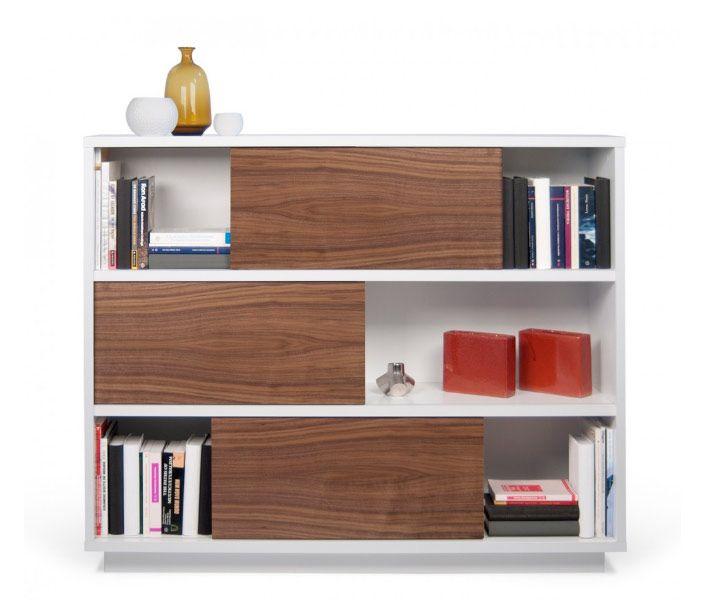 Estanteria diseño moderno y minimalista MEDIDAS  121x45x150 cm  Diseño minimalista. Sus puertas correderas permiten al usuario elegir qué parte del Nilo es visible. Los acabados contrastantes son adecuados para un interior sofisticado en cualquier rincón del mundo.
