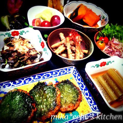 山蕗&蕨をいただいたので、素材の味を生かしたくてやはり和食♡にしました。 豆腐のさんがは、鶏挽き肉と豆腐で作るから、ヘルシーで簡単♪ また後ほどレシピupしま~す( •ॢ◡-ॢ)♡ - 224件のもぐもぐ - ꒰豆腐のさんが(レシピ♪)◆山蕗の煮物◆蕨のお浸し◆牛蒡のくるみ味噌和え◆カボチャの煮物◆紫玉ねぎのぽん酢和え by echo1188