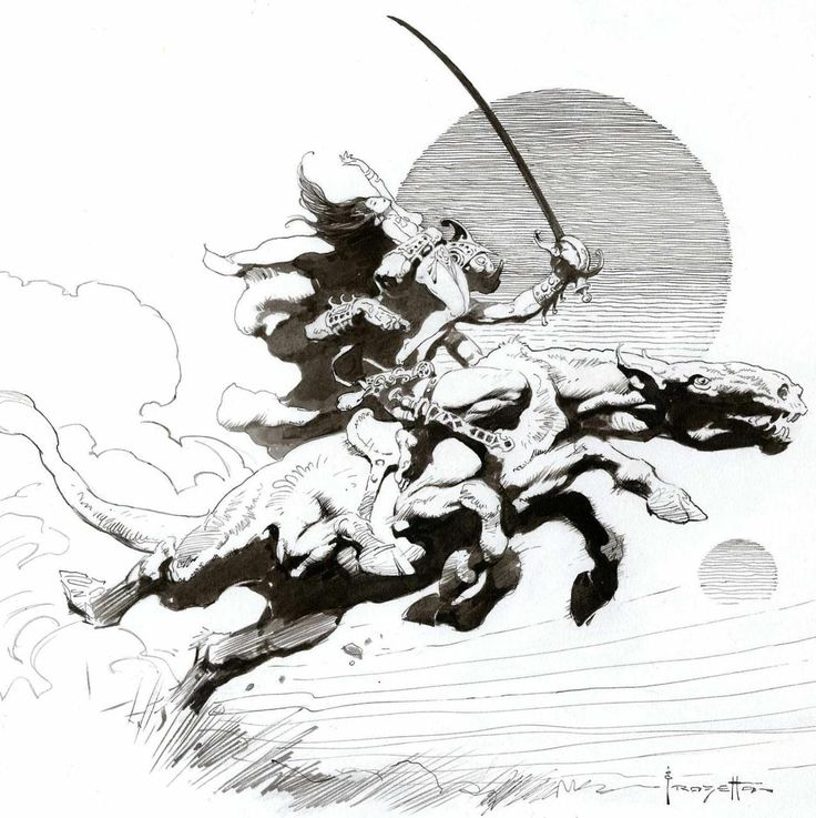 Fantasy Ink Science Fiction Sunday: 7 Best Frank Frazetta Sequentials Images On Pinterest