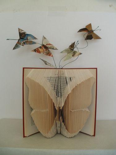 book sculpture butterfly by clara maffei