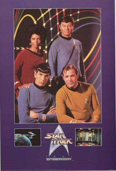 A great Star Trek 25th Anniversary cast poster! William Shatner, Leonard Nimoy…