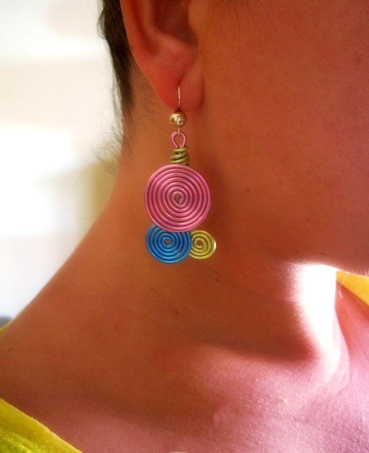 Waves Earrings / Pendientes de Ondas con aluminio  https://www.etsy.com/es/listing/153053077/pendientes-de-ondas-con-aluminio