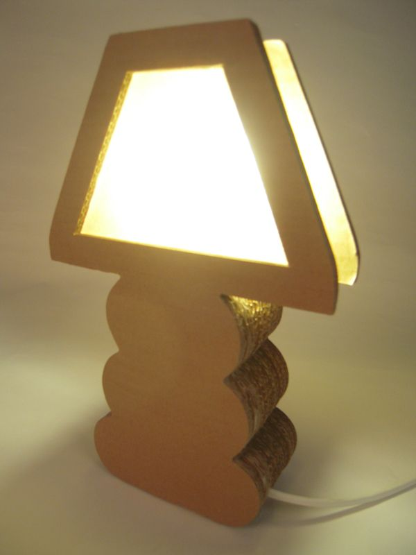 Handmade Cardboard Lamp, from recycled cardboard boxes by Green Spirit , via Behance