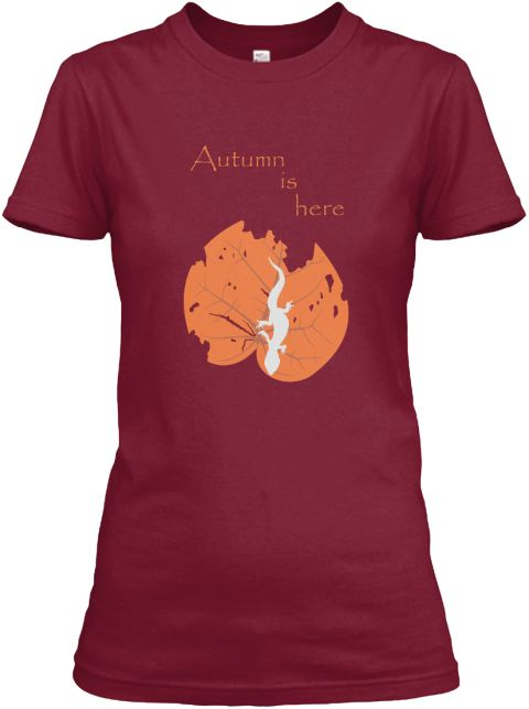 Autumn Is Here Cardinal Red Women's T-Shirt Front