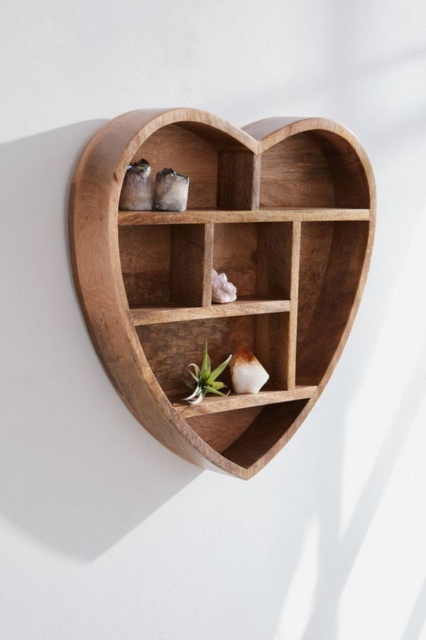 Heart Wooden Wall Shelf Wooden Wall Shelves Wood Wall Shelf Wall Shelves Design