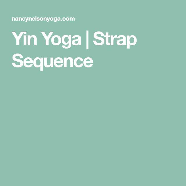 Yin Yoga | Strap Sequence