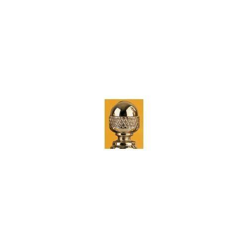 Omnia 085.ACN2 Pair Of Acorn Door Hinge Finials (Polished brass)