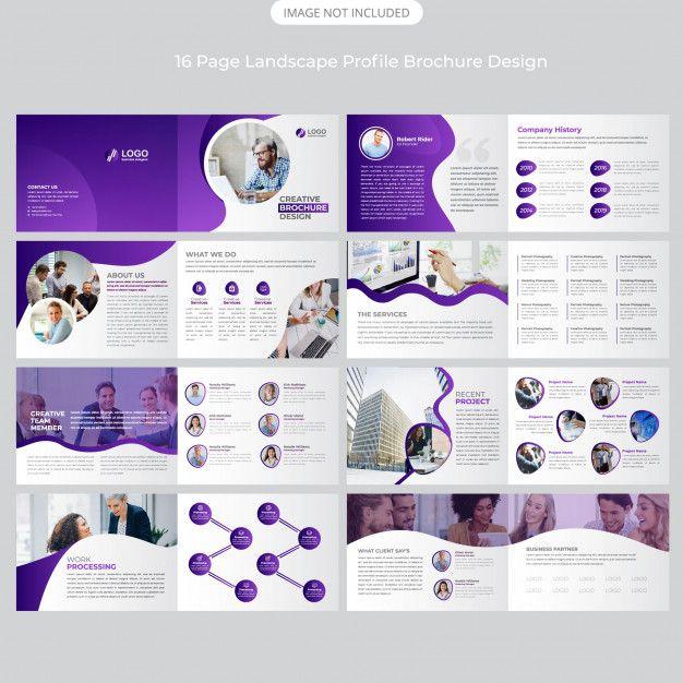 16 Page Company Landscape Profile Design Desain