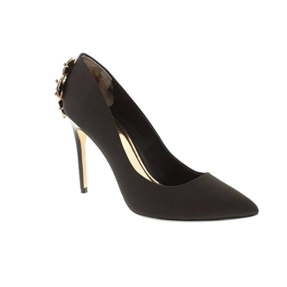 Ted Baker Women's Zephari Textile Embellished High Heel Court Shoe in Black   #Fashion #Shoes #Footwear   #Ad
