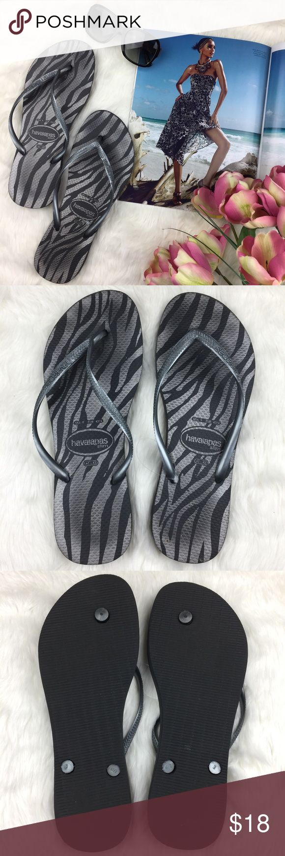 Havaianas Animal Print Flip Flops 0613💕💕the perfect summer staple piece... FLIP FLOPS!!! In great condition. Very minimal signs of wear. Sharing the love💕💕 Havaianas Shoes Slippers