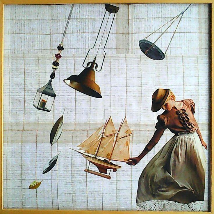 Bouřka koláž 50 x 50 cm by Jana Černochová