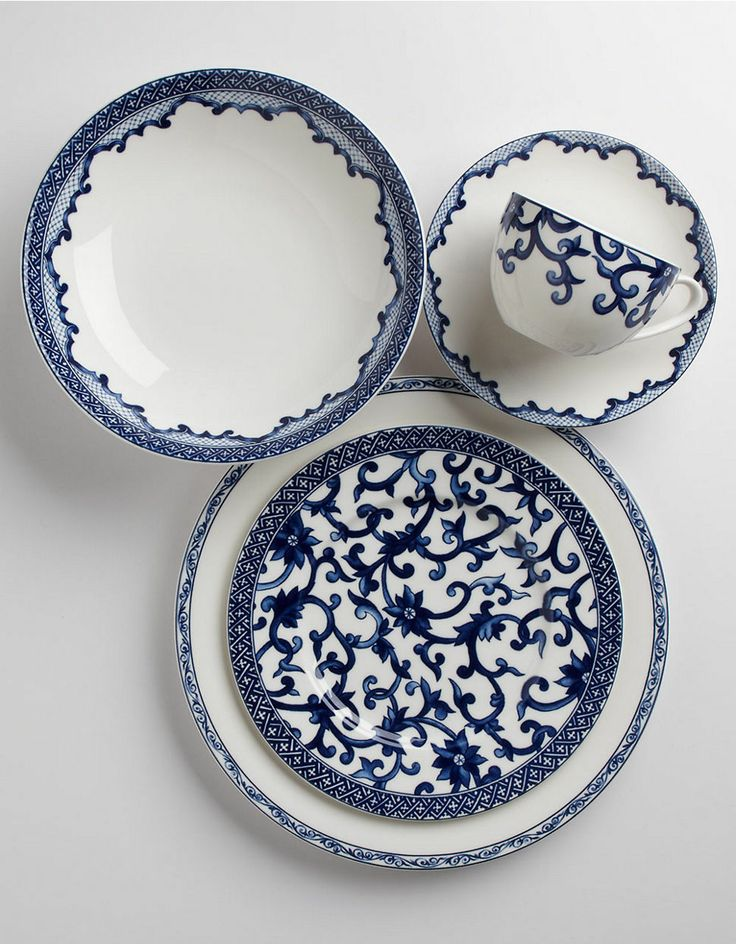 Home | Dinnerware | Mandarin Blue Five Piece Place Setting | Hudson's Bay