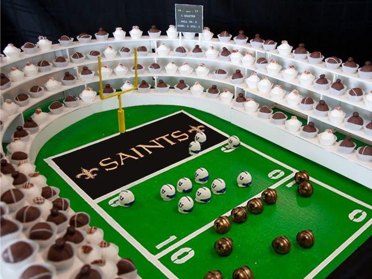 Super Bowl Sunday Cake Balls!Superbowl Cake, Cake Ball, Cake Ideas, Super Bowls, Cake Pop, Parties Ideas, Saint Football, Wedding Cake, Football Stadium