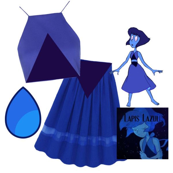 Lapis lazuli - Steven universe by kitten-in-a-tardis on Polyvore featuring Topshop