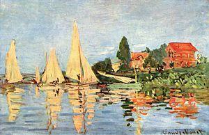 Claude Monet, Regate ad Argenteuil, 1872, olio su tela, Musèe d'Orsay, Parigi