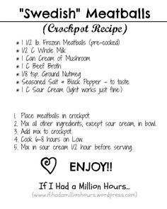 "Goddaughters' party - ""Swedish"" Meatballs {Crockpot Recipe}"