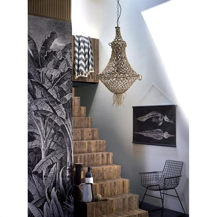 Create the beachy bohemian dream with this stunning Chandelier!  Hand knotted & made of rope in natural.