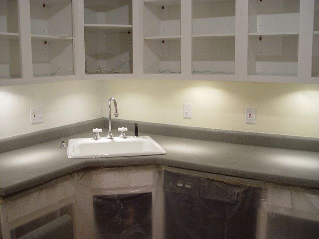 Quick Kitchen Counter Update   With Textured Spray Paint   Old Town Home  After Living 10 Years With Ugly Yellow Formica That I Canu0027t Change For  Under A ...