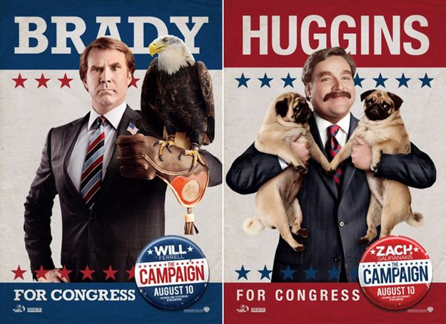 """Will Ferrell And Zack Galifianakis Are On """"The Campaign"""" Trail"""
