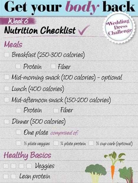 Get Your Body Back - Weekly Diet & Fitness Plans - Redbook WEEK 6