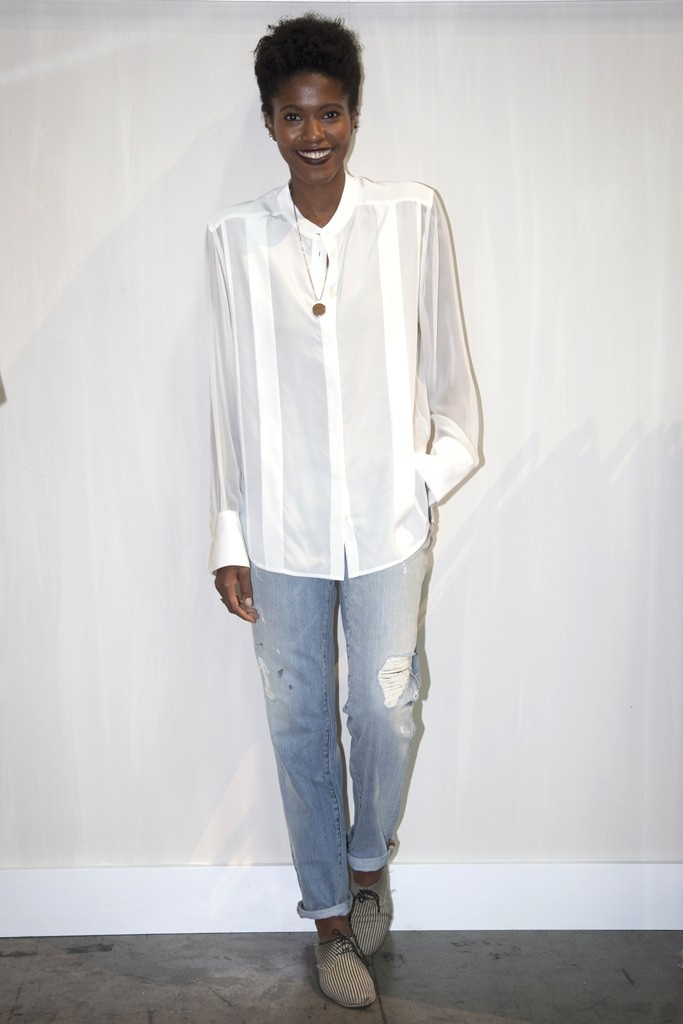 Paper Denim & Cloth unveiled its relaunch at Project with distressed jeans and easy-to-wear blouses.  [Photo by Erika Shisler]