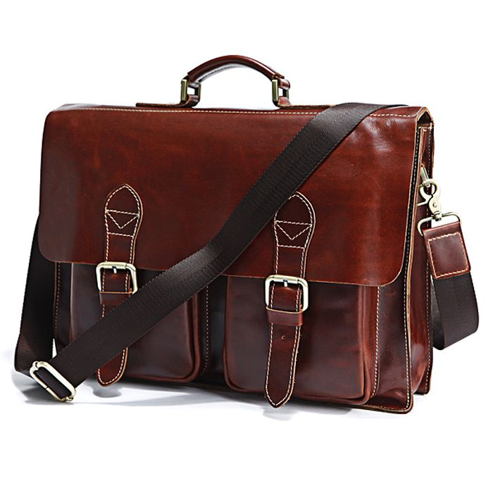 "Handmade Superior Leather Briefcase Messenger Bag ~~ with 14"" 15"" Laptop / 13"" 15"" MacBook Sleeve: Leather Briefcases,  Postbag, Messenger Bags, Laptop Bags, Laptops Bags, Men Bags, Superior Leather, Leather Bags, Men Briefca"