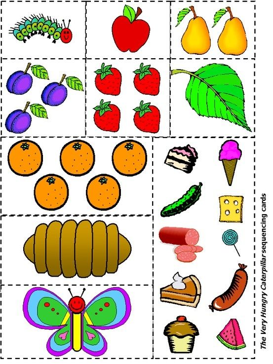 Very Hungry Caterpillar  sequencing printable by Candy321