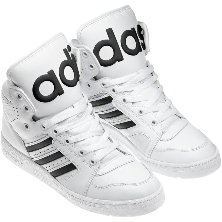 Mens Jeremy Scott x Adidas Originals JS Instinct Hi White/Black
