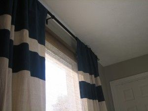 Drop Cloth Curtains with painted stripes... I'm going to use Orange!  I can't wait!: Drop Clothing Curtains, Bedrooms Makeovers, Curtains Draping, Paintings Stripes, Boys Rooms, Drop Cloths, Case, Crafts Diy, Curtains Inspiration