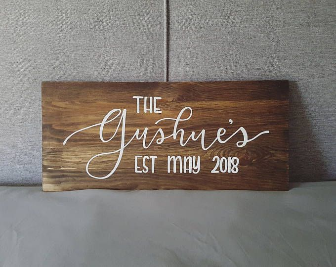 Personalized Wooden Family Name Sign on Etsy