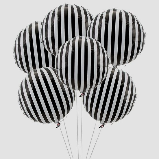 Balloons with a Black and White
