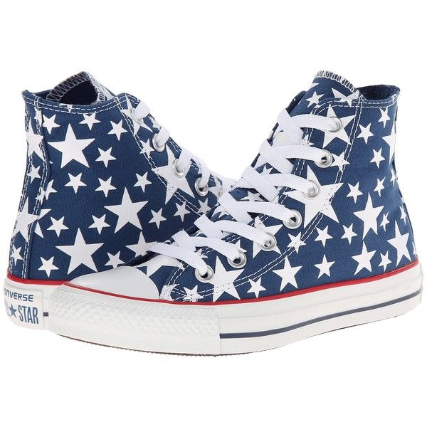 e35cf8d27a96a6 ... sweden converse chuck taylor all star multi star print hi shoes blue 33  liked on polyvore