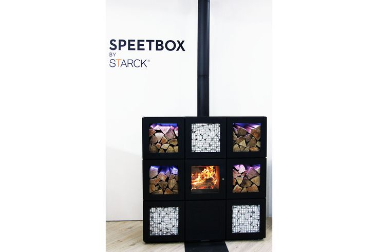 """""""Speetbox"""", stove designed by Philippe Starck. More news on www.MaterialiCasa.com"""