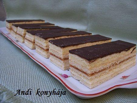 Mézes krémes - Andi konyhája - Sütemény és ételreceptek képekkel
