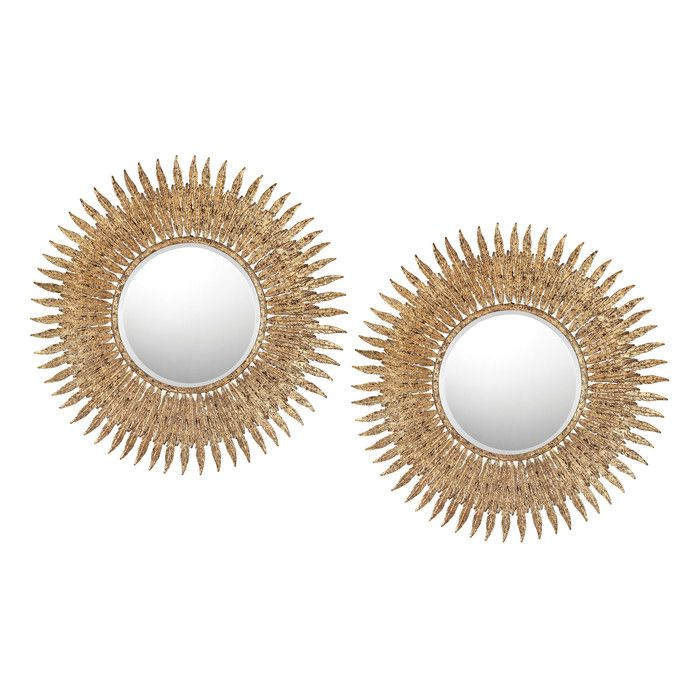 Fyona Sunburst Oversized Wall Mirror & Reviews   Joss & Main