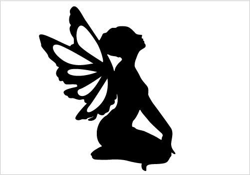 girl as a fairy silhouettes   She is really awesome! This fairy girl will make your fairy tale ...