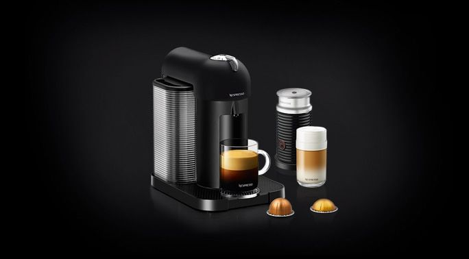 Vertuo Matte Black Bundle | Vertuo Coffee Machine | Nespresso USA - In stock and on sale for $161 @ Nespresso website - full bundle including frother! would make the best present for someone