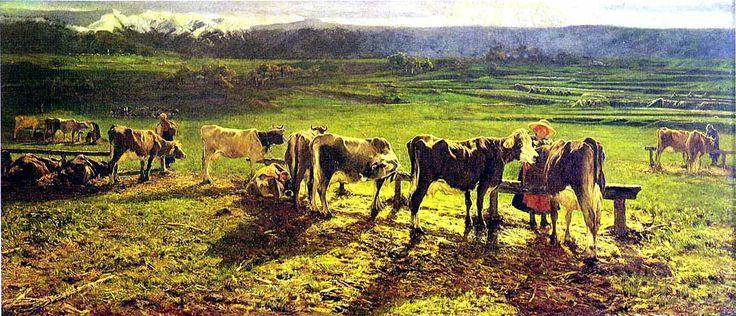 """""""Alla Stanga"""" by Giovanni Segantini, 1886."""