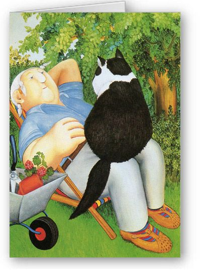 Beryl Cook - Thinking about gardening *